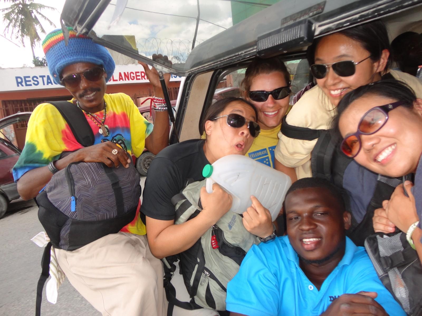 2013, Haiti, Cité Soleil, TWA. Third World Awareness, volunteers, friends, tap tap, transportation