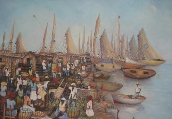 2007. Haiti, TWA, Third World Awareness, non-profit, charity, Haitian, artwork, art, painting, village