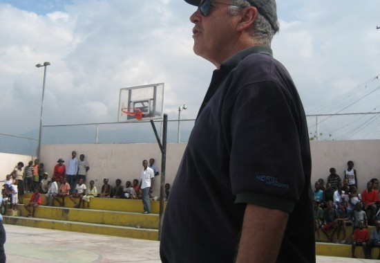 2007. Haiti, TWA, Third World Awareness, charity, non-profit, volunteer, basketball court, Cite Soleil, basketball game, volunteering, community