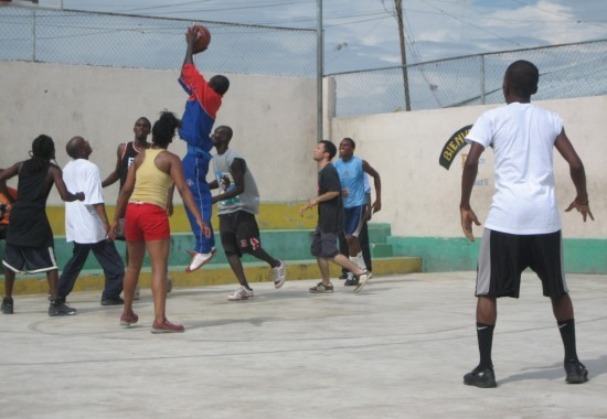 2007, Haiti, TWA, Third World Awareness, non-profit, charity, helping, community, basketball game, basketball court, Canada, Haiti
