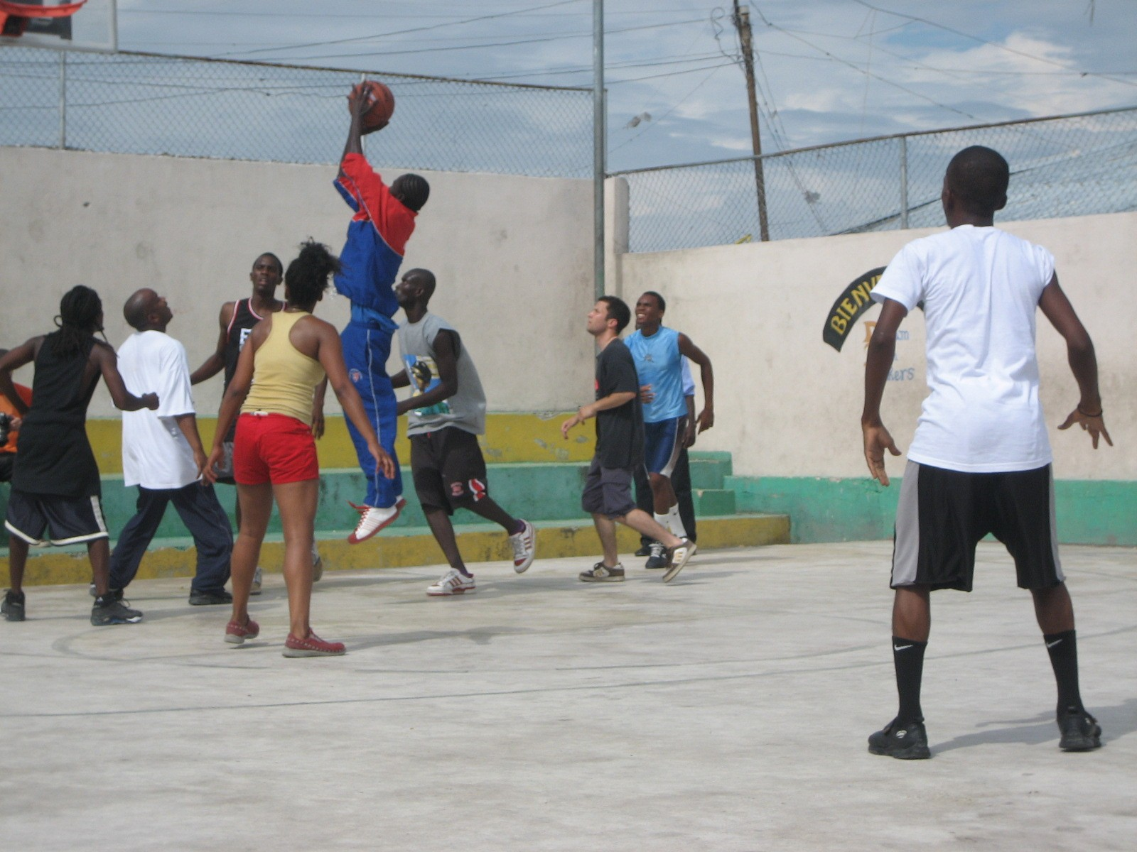 2007, Haiti, TWA, Third World Awareness, non-profit, charity, helping, community, basketball game, basketball court, Canada, Haiti